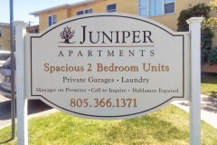 Juniper Apartments Post & Panel Monument Sign