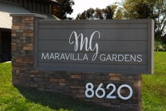 Maravilla Gardens Monument Sign