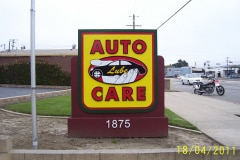 Auto Care Monument Sign