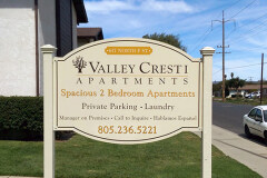Valley Cresti Post & Panel Monument Sign