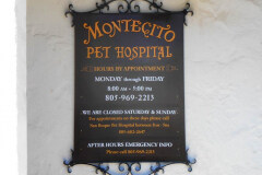 Montecito Pet Hospital Custom Wood Wall Mounted Sign
