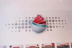 Whirly Cups Dimensional Letter Indoor Wall Sign