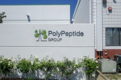 Poly Peptide Group Dimensional Letter Sign in Goleta, CA