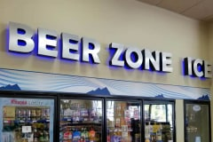 Fuel Depot Market Interior Illuminated Channel Letter Sign – Beer Zone Ice