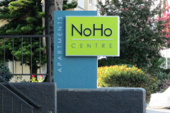 NoHo Centre Apartments Monument Sign, North Hollywood, CA