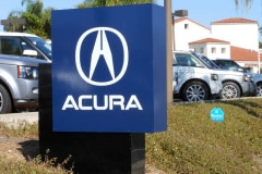 Acura Dealership Santa Barbara Monument Sign