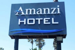 Amanzi Hotel Monument Sign in Ventura, CA