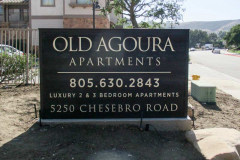 Old Agoura Apartments Monument Sign in Agoura Hills, CA
