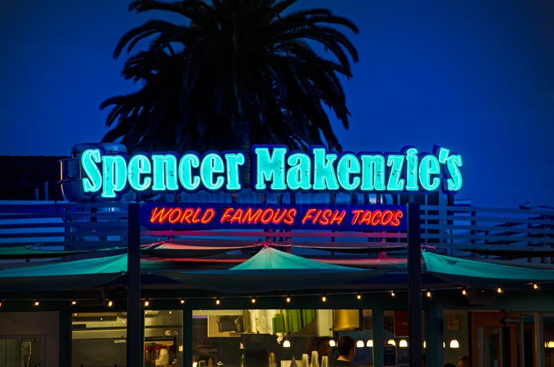 Spencer Makenzie's World Famous Fish Tacos Neon Sign Ventura, CA, Ventura Signs