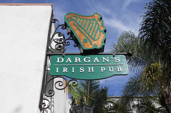 Custom Signs Santa Barbara - Dargan's Irish Pub