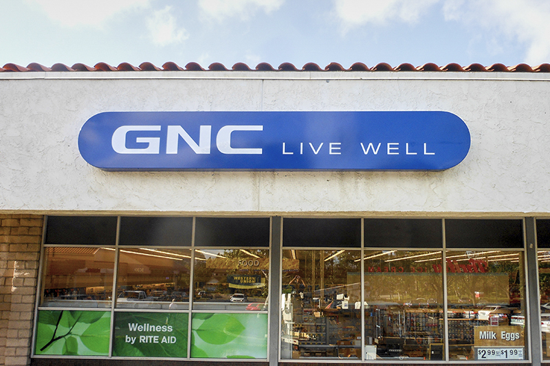 GNC Live Well Lightbox Sign