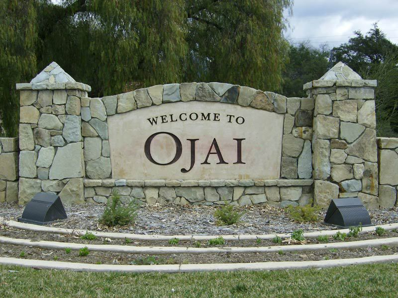 Monument Sign Design - Welcome to Ojai